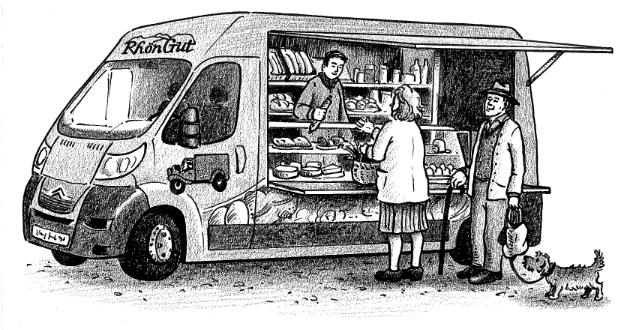 offener Verkaufswagen Skizze